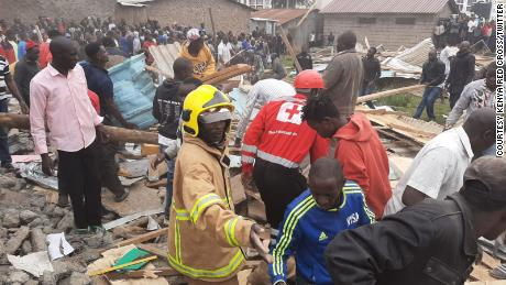 Rescuers are still searching the rubble to determine of more children are trapped