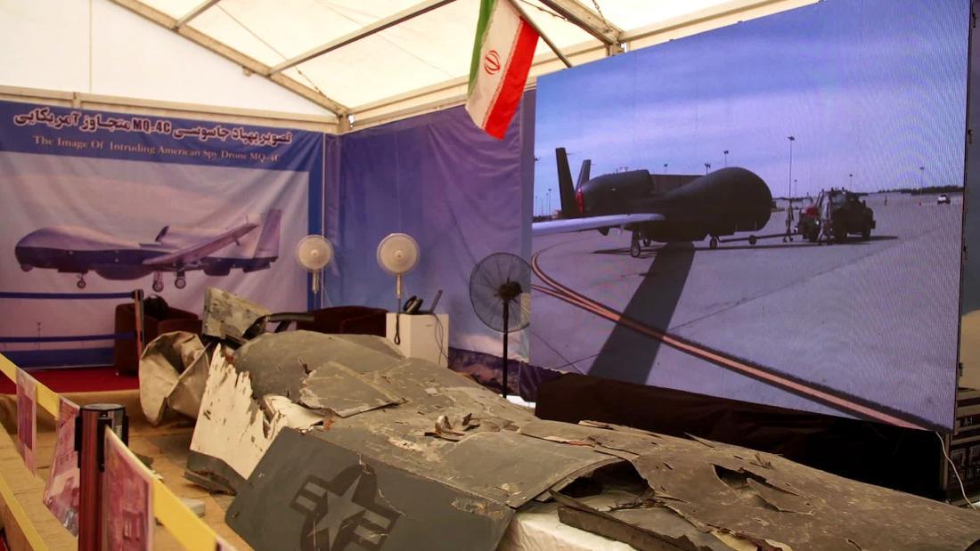 Iran puts US drone wreckage on display
