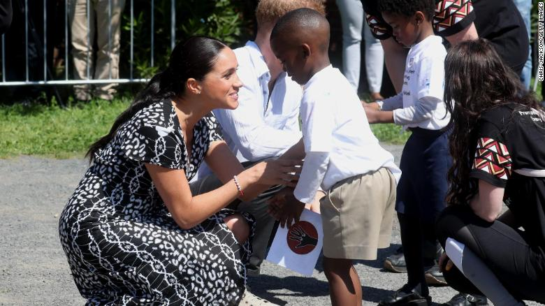 Harry, Meghan and Archie arrive in South Africa
