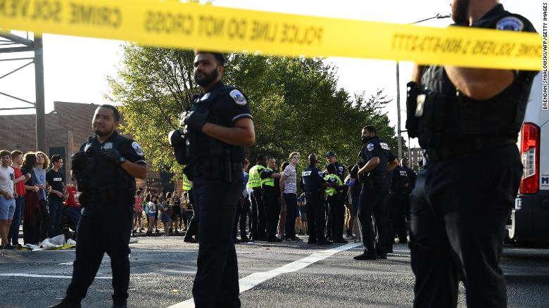 Some environmental activists are arrested as they protest Monday in Washington.