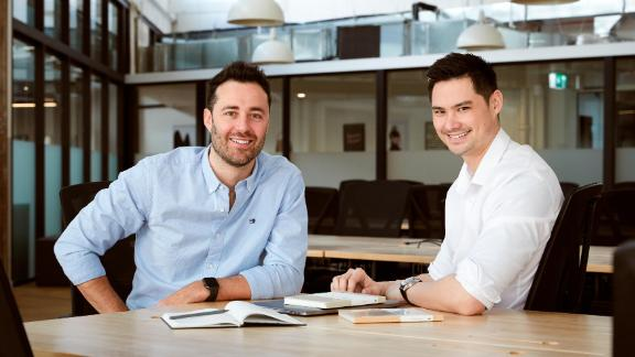Karst Stone Paper founders Kevin Garcia and Jon Tse.
