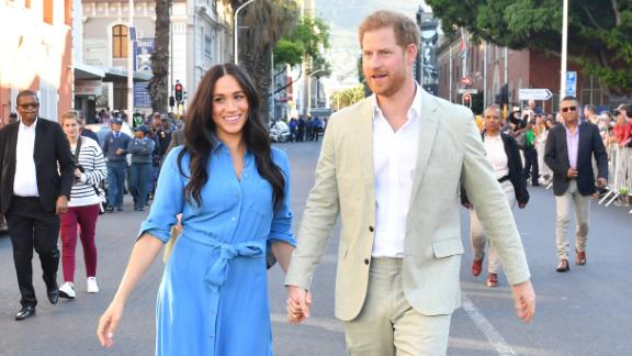 Meghan and Harry visit Cape Town, South Africa, during their royal tour of Africa in September.