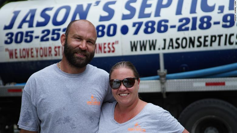 Jason and Brittnie Nesenman have a lot of extra work fixing septic systems that are vulnerable to the climate crisis.
