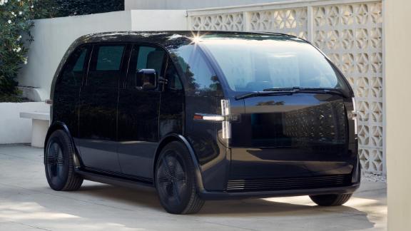 The Canoo looks like an ultra-modern minivan.