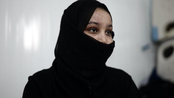 Mona, 17, left Somalia after her father died. She said she was tortured by traffickers.