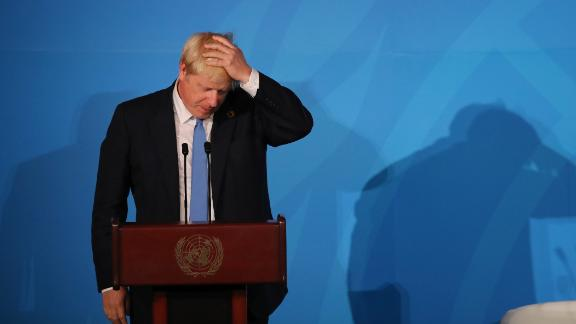United Kingdom Prime Minister Boris Johnson speaks at the United Nations (UN) Climate Action Summit on September 23, 2019 in New York City.
