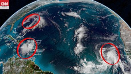 3 tropical systems are spinning in the Atlantic