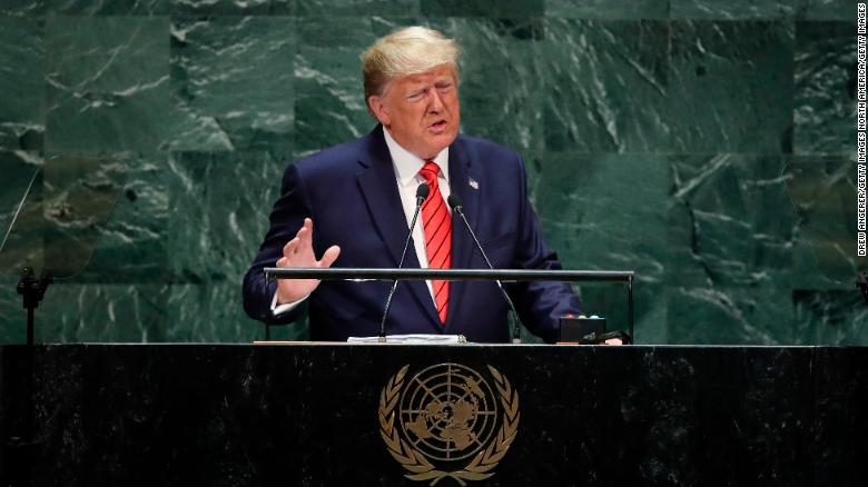 Trump issues warning to Iran during UN speech
