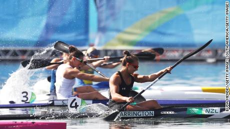 Kayaker Lisa Carrington of New Zealand won gold and bronze at the 2016 Rio Olympic Games.