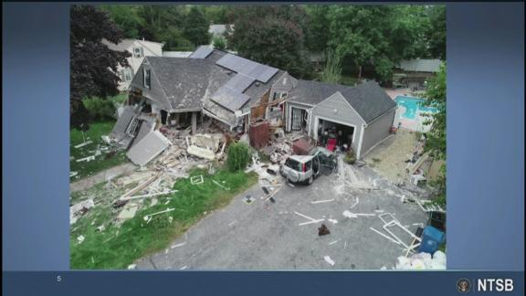 18-year-old Leonel Rondon was inside a car in Lawrence, Massachusetts, when a chimney fell on the vehicle. He was taken to Massachusetts General Hospital, where he later died. This NTSB photo shows the aftermath of the destruction.