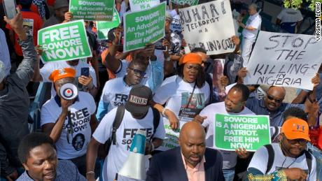 Nigerian journalist charged with treason is granted bail but lawyer says he is still being held