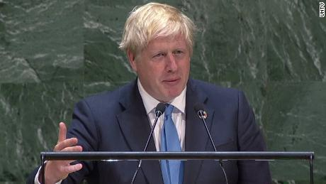 Watch UN crowd laugh at Boris Johnson's Brexit joke
