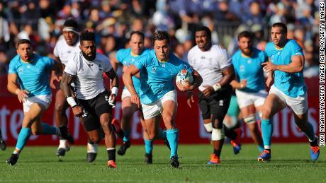 Uruguay beat Fiji in the Kamaishi Recovery Memorial Stadium.