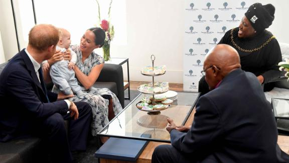 Archie was the center of attention at the meeting with Tutu on Wednesday.