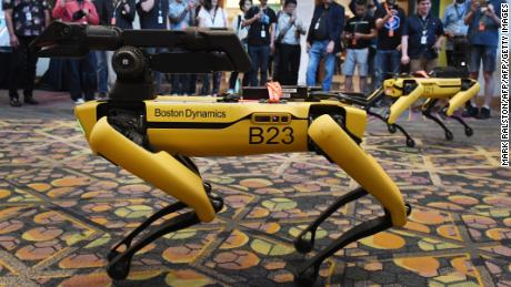 The Spot robot dog, showcased by Boston Dynamics on June 4, 2019.