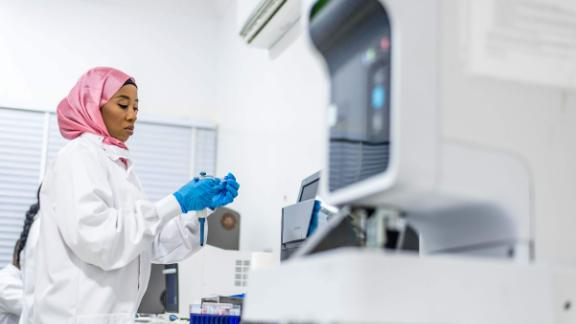 Part of 54gene's work is developing diagnostic facilities within African countries. Currently some samples have to be sent abroad for testing.
