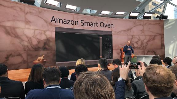 Amazon also unveiled a smart oven that allows users to scan items from the Alexa app or Echo show.