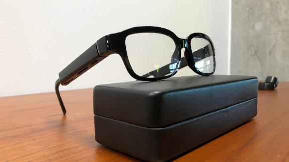 Amazon's new eyeglasses that come with its virtual assistant Alexa, the Echo Frames.