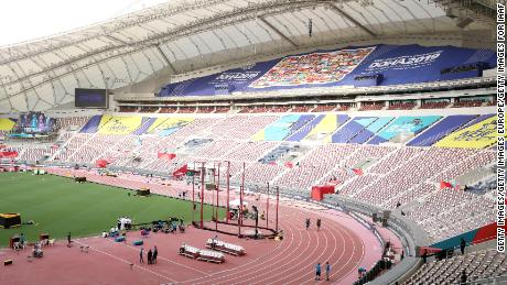 Khalifa International Stadium in Doha is hosting the World Championships.