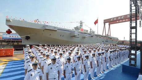 China launches amphibious assault ship