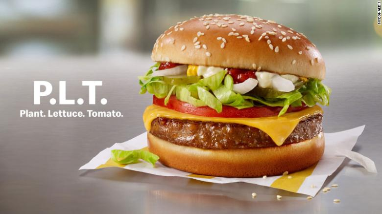 The P.L.T. with Beyond Meat will be available for a limited time in select restaurants in Canada, beginning September 30, 2019.