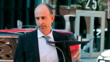 California businessman Stephen Semprevivo arrives Thursday for his sentencing hearing at federal court in Boston.