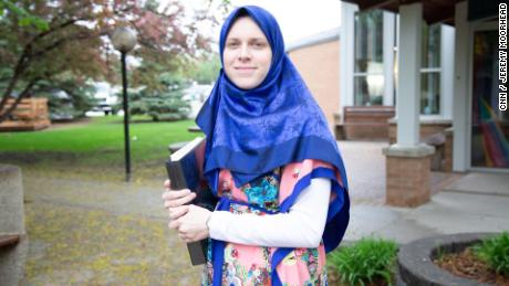 Ostadhasan's wife, Bailey Bubah, grew up Catholic but converted to Islam.