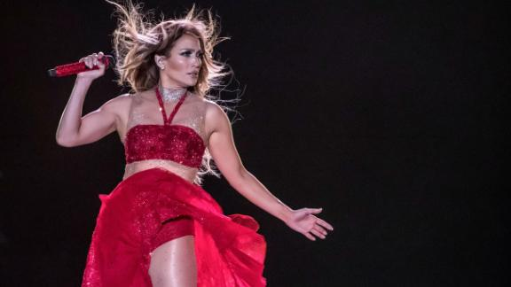Jennifer Lopez performs in New Alamein, Egypt, on August 9, 2019.