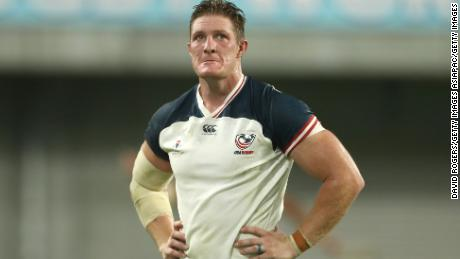 USA's John Quill received the first red card of the tournament for a dangerous challenge.