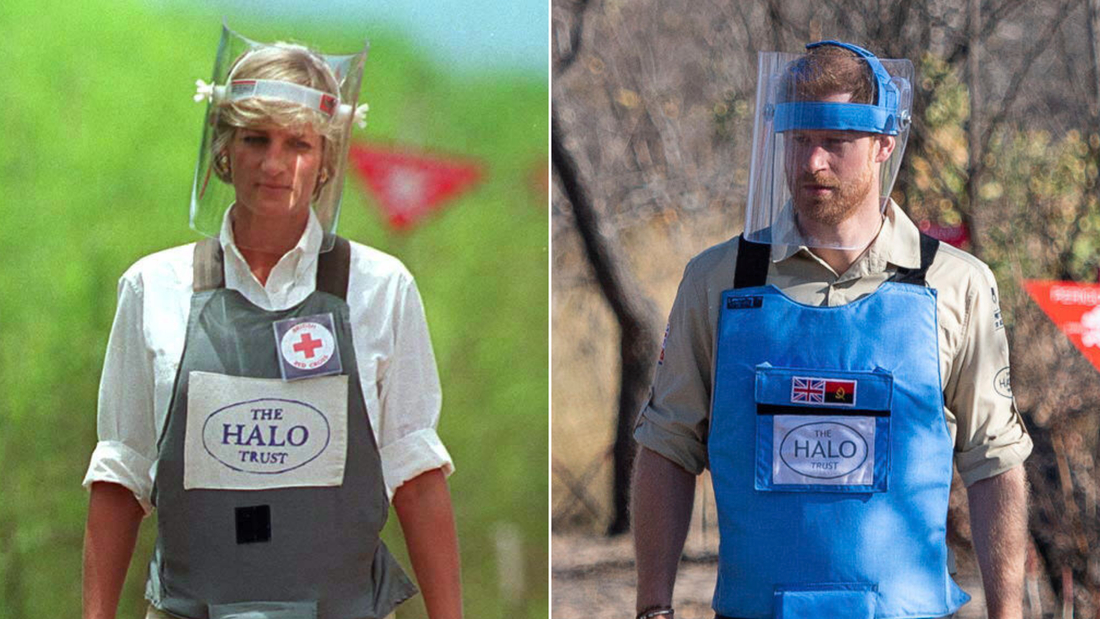 In his visit to Angola in September, Prince Harry retraced his mother's famous steps through a minefield.