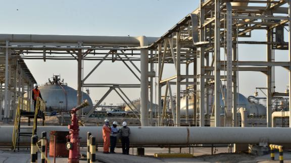 A partial view of Saudi Aramco's Abqaiq oil processing plant on September 20, 2019. - Saudi Arabia said on September 17 its oil output will return to normal by the end of September, seeking to soothe rattled energy markets after attacks on two instillations that slashed its production by half. The strikes on Abqaiq - the world's largest oil processing facility - and the Khurais oil field in eastern Saudi Arabia roiled energy markets and revived fears of a conflict in the tinderbox Gulf region. (Photo by Fayez Nureldine / AFP)        (Photo credit should read FAYEZ NURELDINE/AFP/Getty Images)