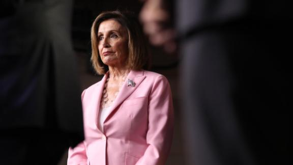 Speaker of the House Nancy Pelosi (D-CA) joins fellow House Democrats to mark 200 days since they passed H.R. 1, the For the People Act with a news conference at the U.S. Capitol September 27, 2019 in Washington, DC.