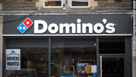 A branch of Domino's Pizza in England.