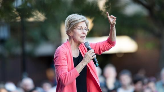 Democratic presidential candidate Sen. Elizabeth Warren (D-MA) speaks during a Town Hall at Keene State College on September 25, 2019 in Keene, New Hampshire.