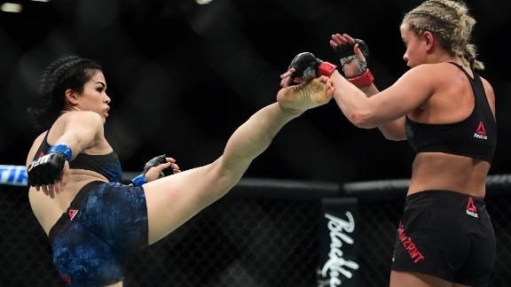 VanZant made her return from her first broken arm against Rachael Ostovich on January 19, 2019 -- she won the fight via an armbar submission in the second round.