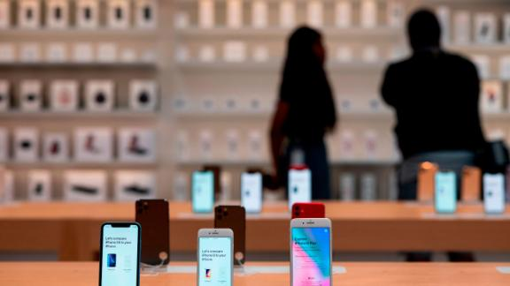 The new iPhone 11 are displayed  inside the newly renovated Apple Store at Fifth Avenue on September 19, 2019 in New York City.
