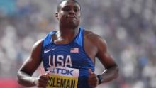 Coleman is a two-time gold medal winner at the world championships.