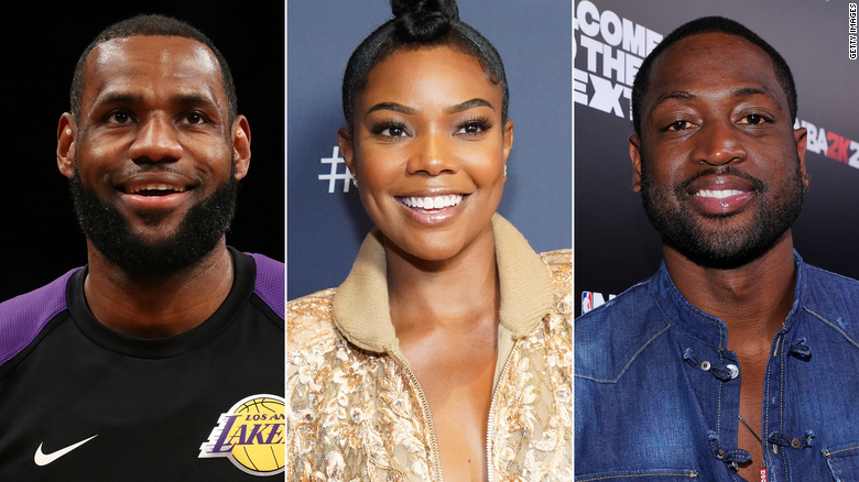 LeBron James issued the challenge to Gabrielle Union and her husband, Dwyane Wade.