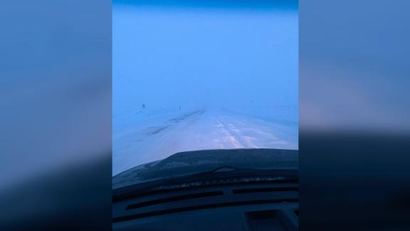 The National Weather Service in Great Falls, Montana, said there was up to a foot of snow on a highway.