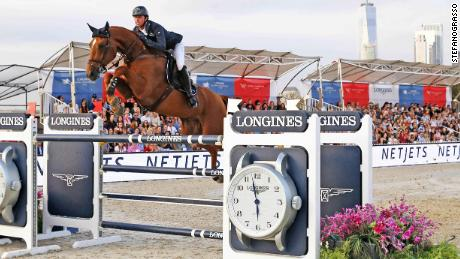Ben Maher, riding Explosion W, won the final round of the Global Champions Tour in New York, to clinch the overall title for the second straight year.