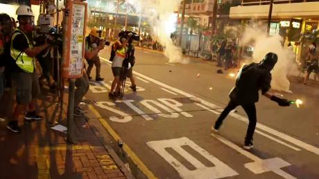 Hong Kong protesters clash with police for 17th week