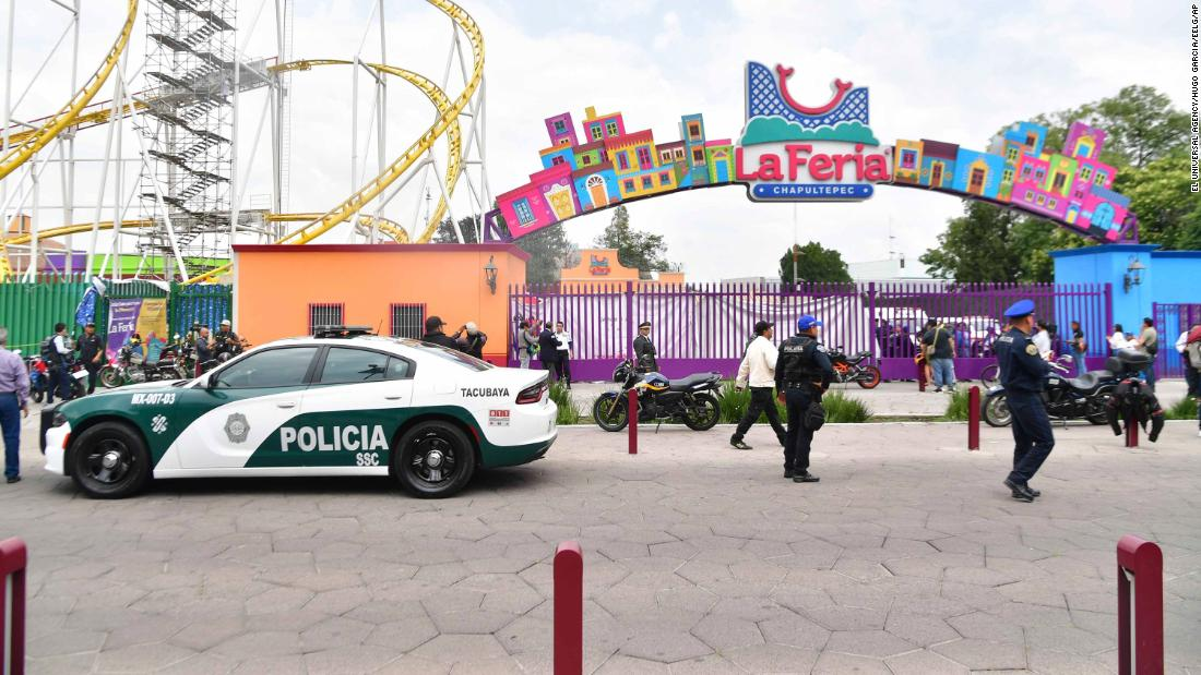 Two riders were killed when a roller coaster jumped its track in Mexico City