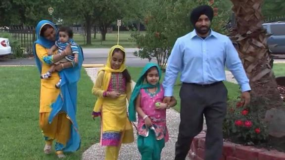 Dhaliwal with his family.