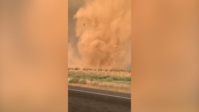 Amateur storm chasers capture tornado up close