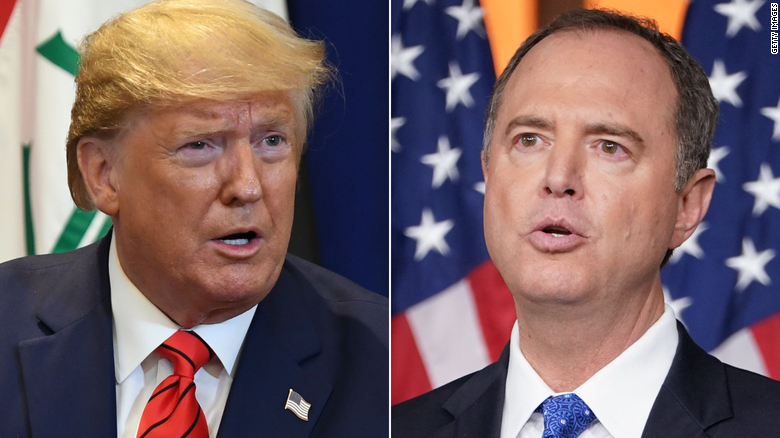 Image result for images of Trump vs. Adam Schiff""