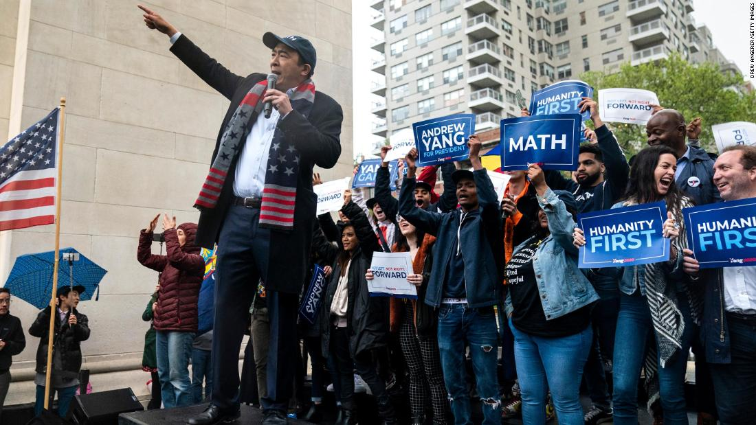 Andrew Yang: 'Someone needs to pull an Andrew Yang' and drop out of 2020 race