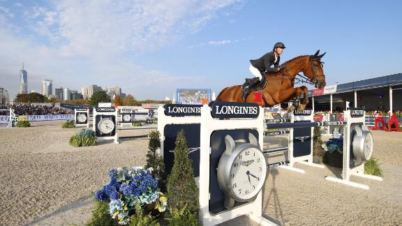 But Britain's Maher took the Grand Prix title to secure back-to-back Longines Global Champions Tour crowns.