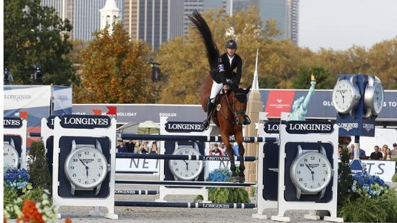 Belgian Pieter Devos held a narrow lead over defending overall champion Ben Maher.