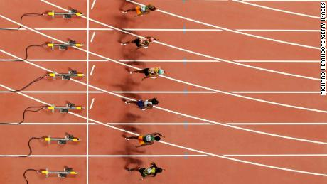 The starting-block cameras were used in the 100 meters and hurdle sprints.