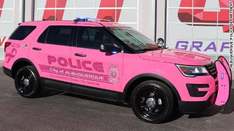 The Albuquerque Police Department is raising breast cancer awareness with a unit of hot pink patrol cars